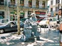 Living statues, Ramblas, Spain