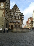Jagstheimerhaus, Half-timbered house Rothenburg ob der Tauer, Germany