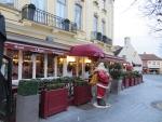 Santa in Bruges, Belgium