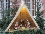 Nativity scene in Bruges, Belgium
