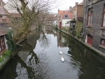 Canal at the Mariastraat in Bruges, Belgium