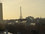 The Eiffel Tower from our hotel