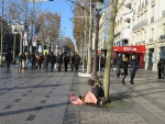 Beggars on the ChaMps Elysee