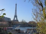 The Eiffel Tower from the Seine, Paris