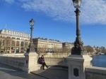 Elisabeth on the Pont Neuf, Paris, Paris