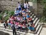 Class outing in Mystras, Greece