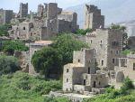 The deserted village of Vatheia, Greece