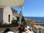 Terrace on Monemvasia, Greece
