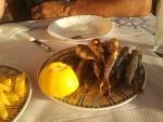 Sardines as dinner, Greece