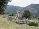 The Athens temple in Delphi, Greece