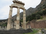 The Athens temple in Delphi