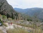 The temple of Apollo in Delphi, Greece