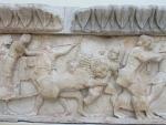 War relief, museum of Delphi, Greece