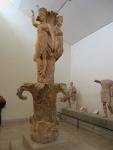 The enigmatic Dancers' column, museum of Delphi, Greece
