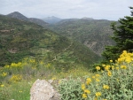 Mountain landscape at Ano Zachlorou, Greece