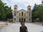 Little square in Kalavrita, Greece