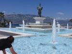 Pegasus fountain in Corinth, Greece