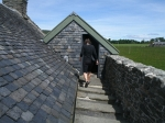 On the roof of Skipness castle