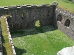 Courtyard of Skipness castle
