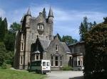 Castle in the botanical garden of Benmore, Scotland