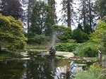 Pond in the botanical garden of Benmore