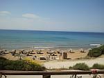 The beach at Vitalades, Greece