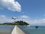 Aircraft spotting at Corfu airport, Greece