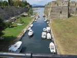 Canal along the castle of Corfu