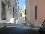 A very narrow street in Argyrades, Greece