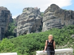 The Great Meteora monastery in the background