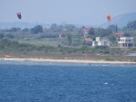 Kites on the beach, Greece