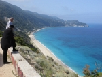 Beach on the west coast of Lefkada