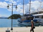 Port of Nidri on the east coast of Lefkada, Greece
