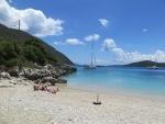 Rouda bay beach on Lefkada, Greece