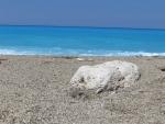 The sea at the Gialos beach, Lefkada, Greece