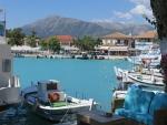 The port of Vasiliki, Lefkada, Greece