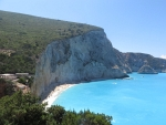 The beach of Porto Katsiki from above, Greece