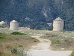 Mills in the north of Lefkada