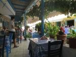 Terrace in Agios Nikitas, Greece