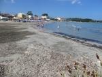 The beach of Roda, Greece