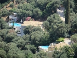 Houses with swimming pools, Corfu