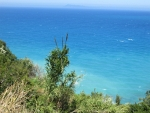 The northwest coast of Corfu, Greece
