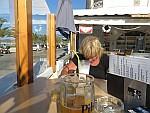 A very dirty milkshake in Roda, Greece