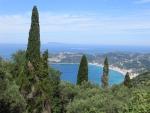 The bay of Agios Georgios, Greece