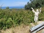 Jesus along the way, Corfu, Greece