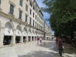 Along Spianada square of Kerkyra, Greece