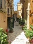 Street in old Kerkyra, Greece