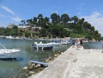 The walkway at Kanoni, Greece