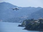 Spotting airplanes again, Corfu, Greece