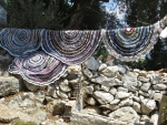 Homemade cloths, Kassiopi, Greece